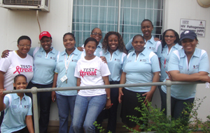 HPP Mshiyeni clinic staff (in blue golfers) & CAB members (in white T's) on WAD 2011