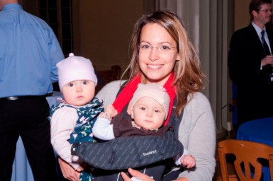 Dr. Galit Alter and twin daughters