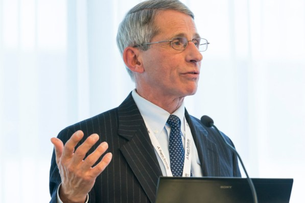 Dr. Anthony Fauci gives the keynote address at the dedication