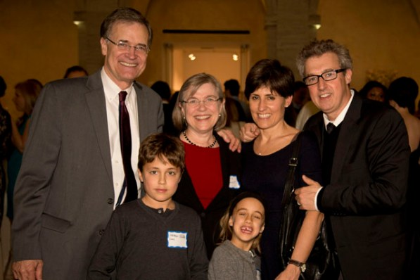 Drs. Bruce Walker and Facundo Batista and their families