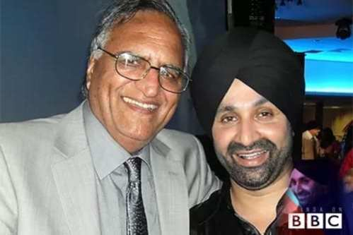 Sukshinder Shinda, a bhangra record producer and singer songwriter from Handsworth in Birmingham with Rahi Bains