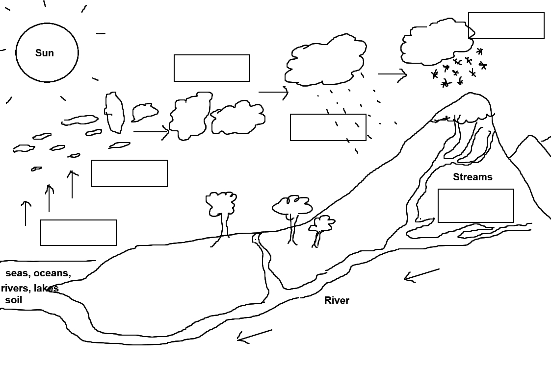 Water Cycle Worksheet For Preschool