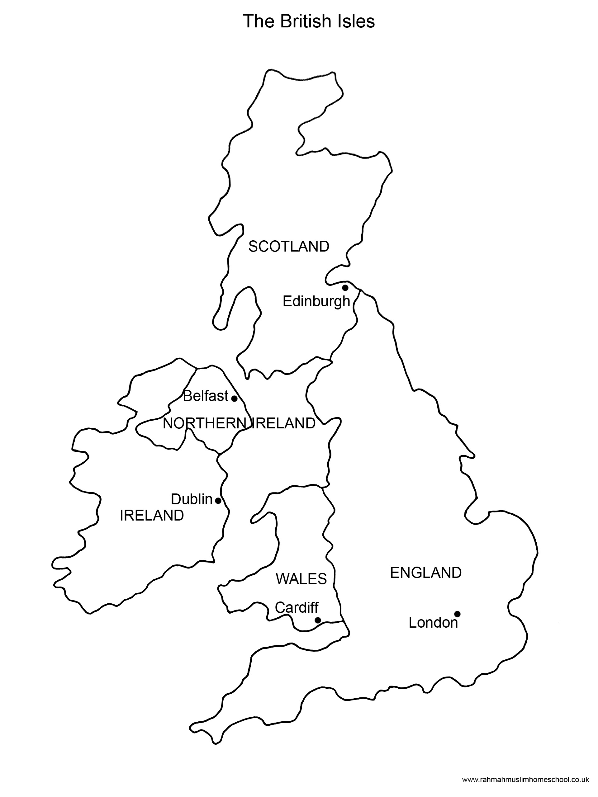 British Isles Map Worksheets Sketch Coloring Page