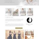 a website for bridal dresses and makeup artist