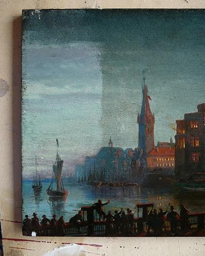Gemälde und Grafik: Restaurierung eines Gemäldes