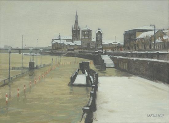 G. Grulich Winter am Schloßturm