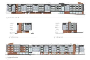 Rahway Residences for the Arts.River elevation