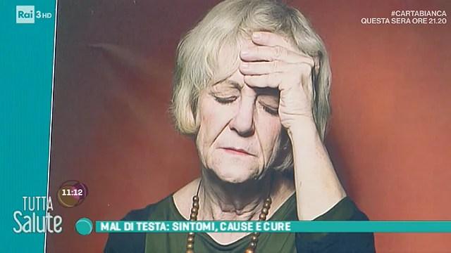 Risultati immagini per tutta salute rai il mal di testa