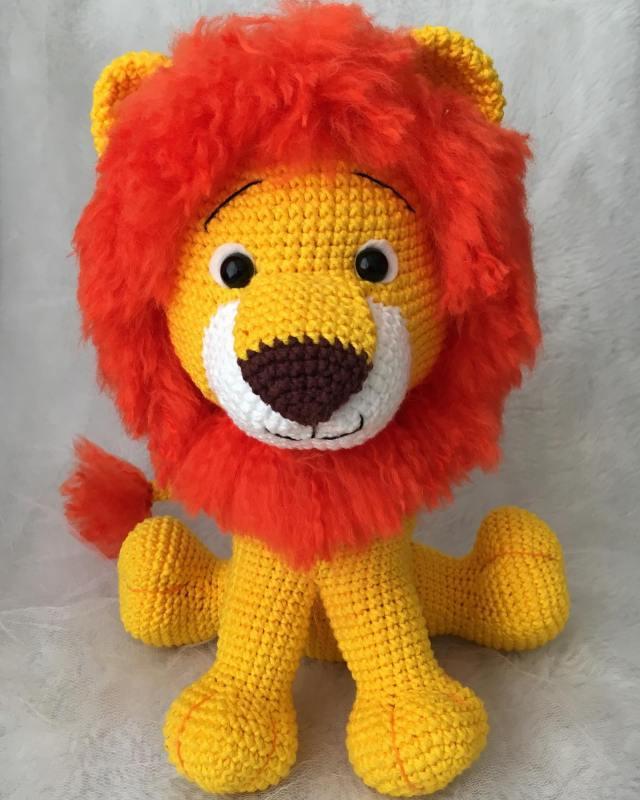 Leão Amigurumi Com Novo modelo de Juba