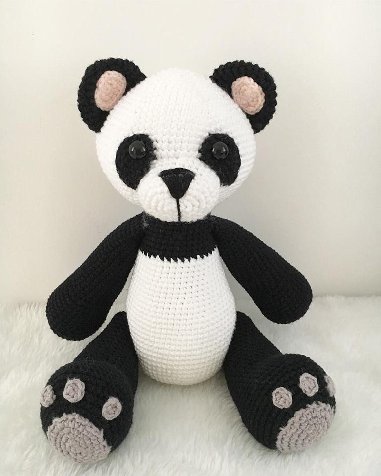Panda amigurumi - Raiane Barros - Bichinhos em Crochê