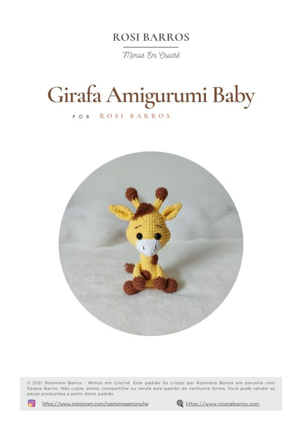 Girafa Amigurumi Baby by Rosi Barros