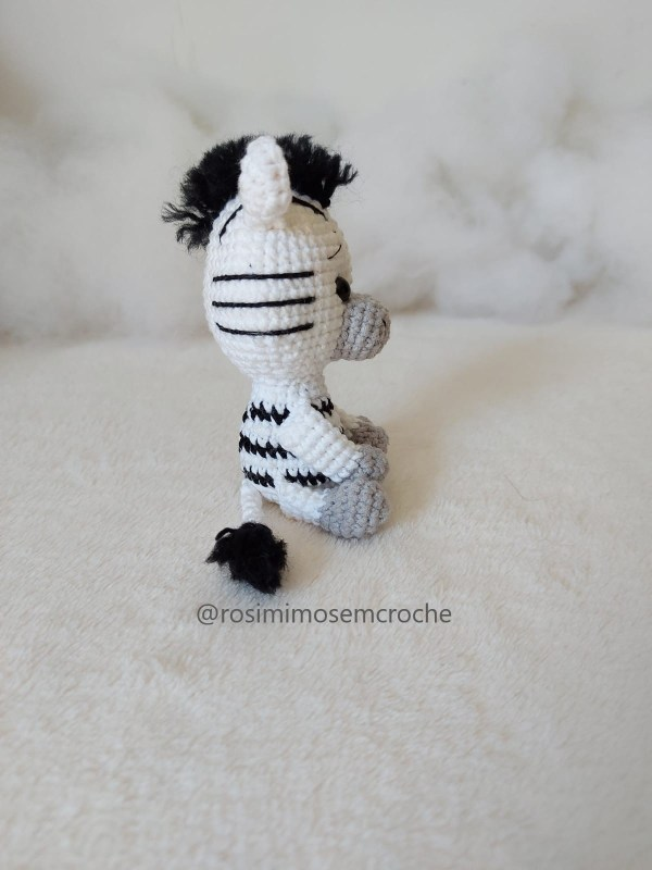 Zebra Amigurumi Baby Lado Rosi Barros