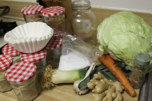 Supplies for fermenting vegetables