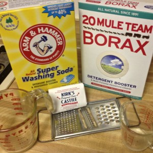 Supplies for Homemade Laundry Detergent