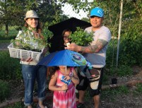 Family plant pickup during our 2014 seedling sale fundraiser!