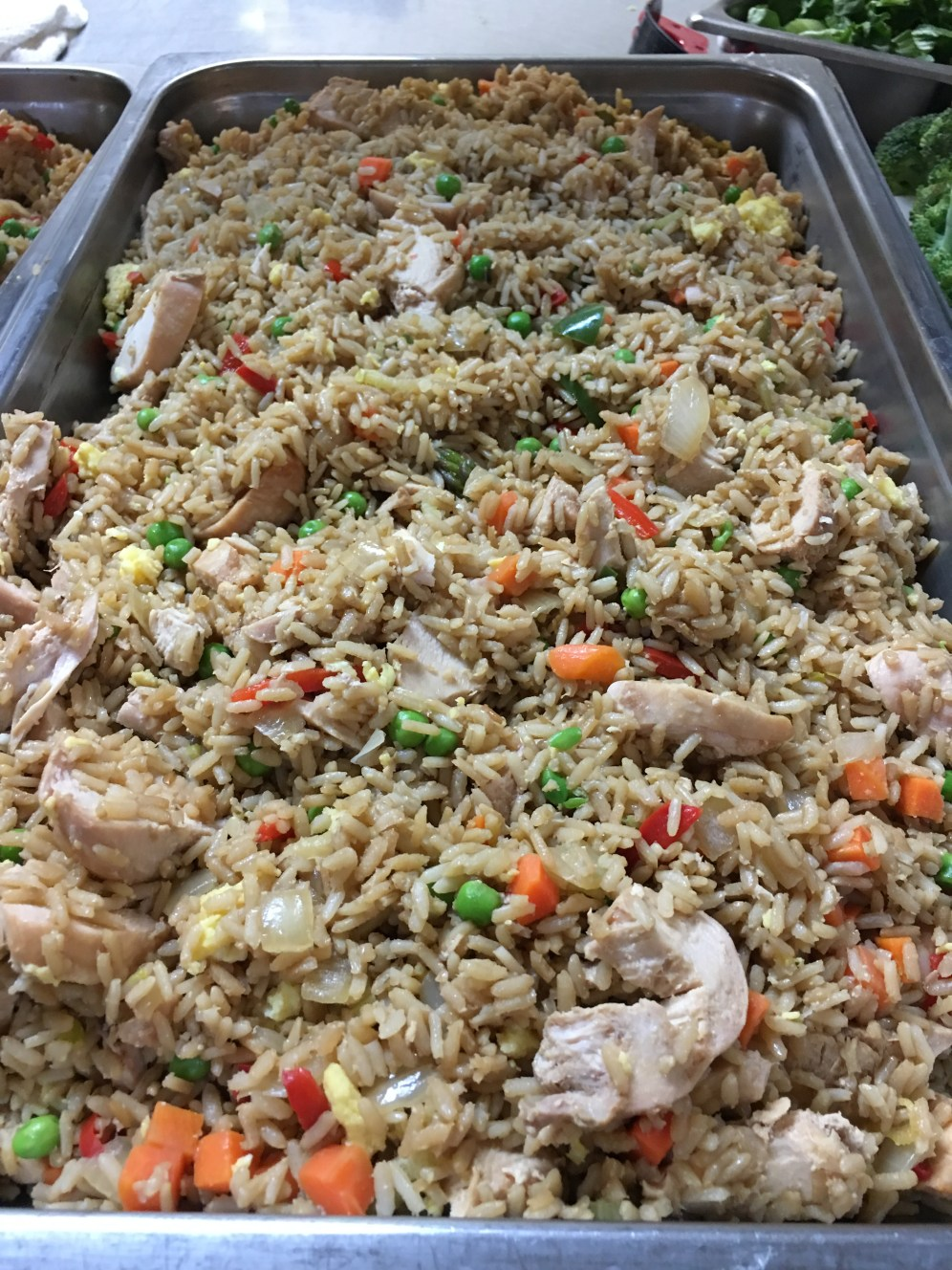 Chicken stir fry made with organic vegetables donated at the first Common Ground workshop. Meals made with the donations collected added to 50 servings of vegetables provided through the Meals On Wheels Program!