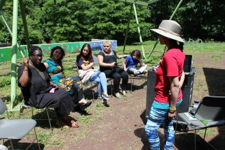 Dialoguing about the importance of seed saving.