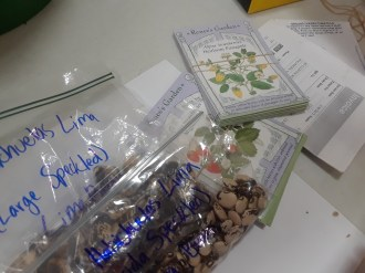 Seeds came from companies and from individual seed savers.