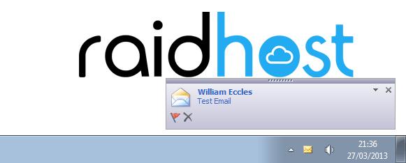 IMAP Desktop Notifications Outlook 2010