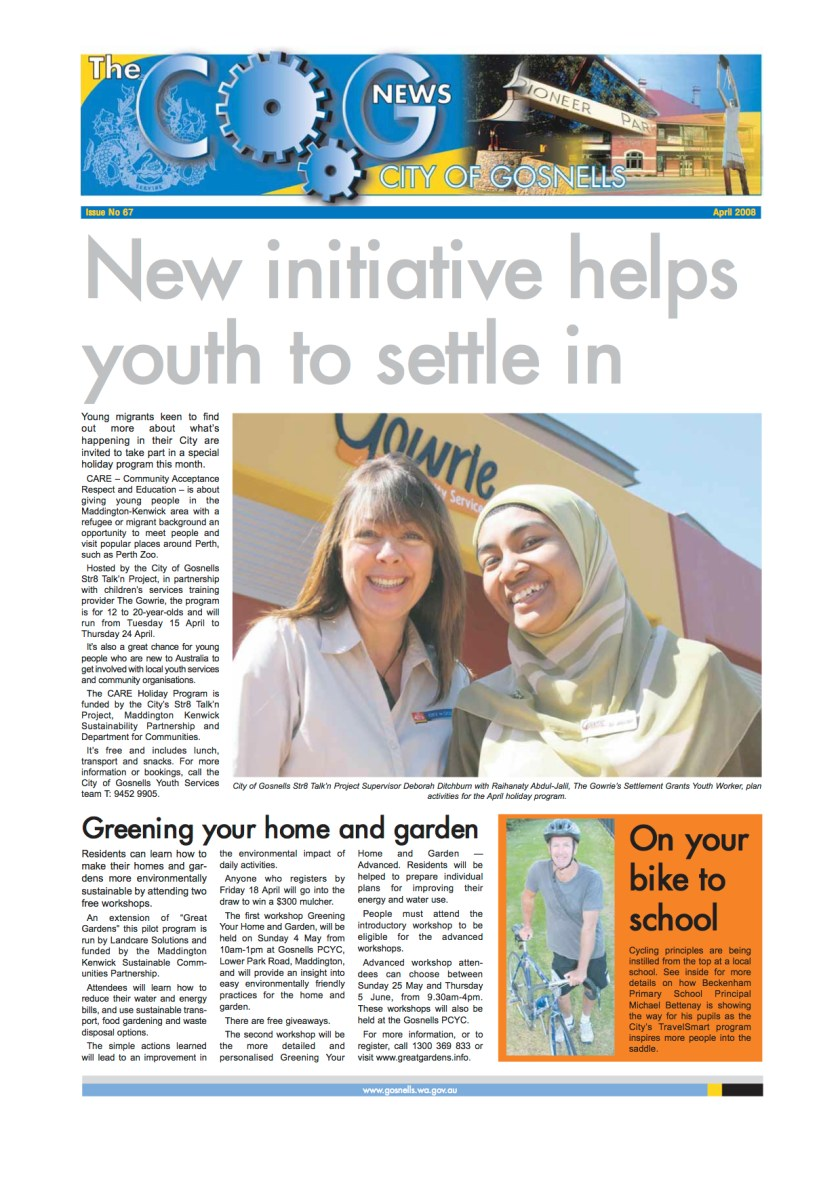 New initiative helps youth settle - Raihanaty A Jalil in City of Gosnells News