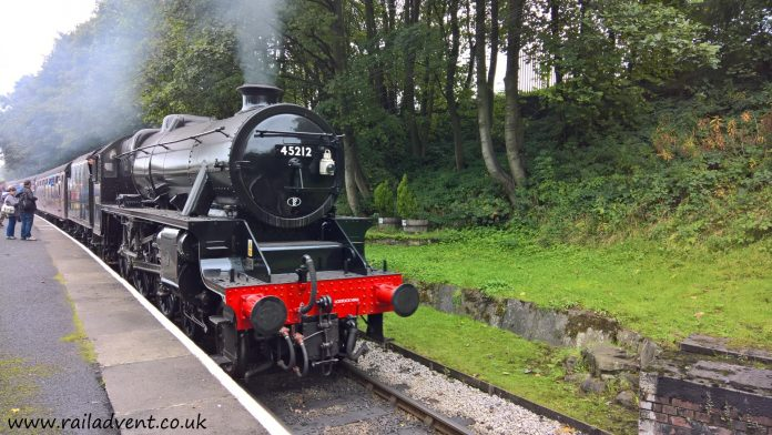 No. 45212 reaches Ingrow West with the Keighley & Worth Valley Railway at the Autumn Steam Gala