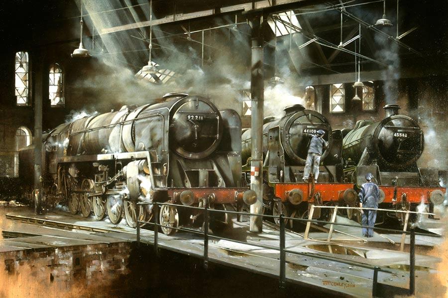 Railway Paintings By Artist John Cowley GRA