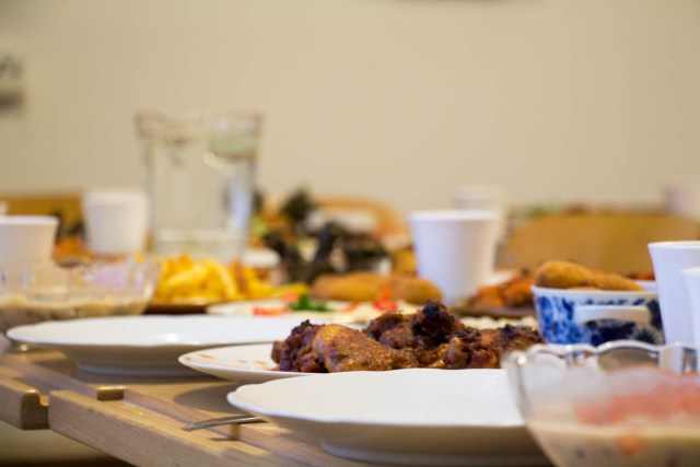 Saud cooked a meal for almost 30 people at the end of Ramadan. / Kyle Walker