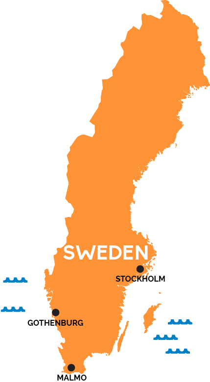 Image result for sweden map