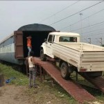 M&M Loads Train With Bolero Pickups at Kalamboli, Sends Them to Bangladesh