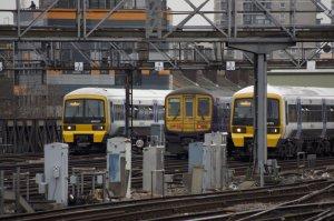 Trains outside London Bridge