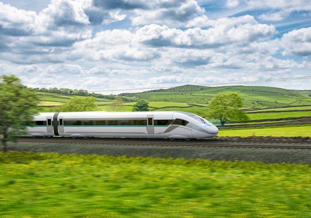 Rendering of Siemens Mobility's Velaro Novo high-speed train