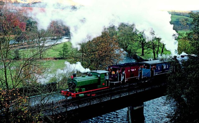 It was appropriate that the first steam locomotive to be purchased for the ELR, former North West Gas Board 0-4-0 No. 1, should be charged with hauling the first works trains through to Rawtenstall on November 5, 1989. The locomotive is seen hauling a pair of brake vans and Austerity 0-6-0 No. 8 Sir Robert Peel assisting the train over Alderbottom No. 2 Bridge heading towards Rawtenstall with the second train of the day. Photo: Dave Dyson