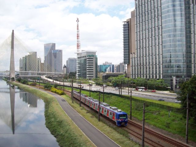 CPTM train in São Paulo, Brazil