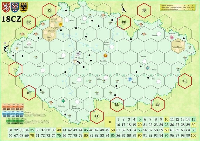 Mapa z wydania ENG/GER