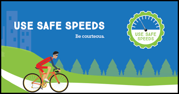 Use safe speeds.