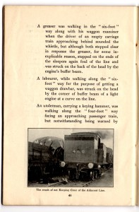 Page from 1921 Caledonian Railway's 'Vigilance Booklet' which discusses Beck's case