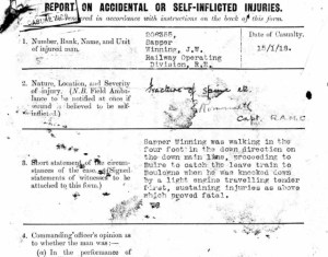 Copy of the accident report.