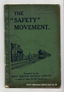 GWR accident prevention booklet cover.
