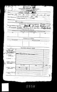Arthur's war attestation paperwork.