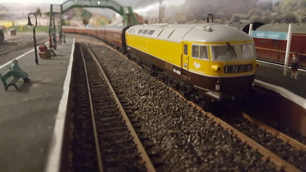 Kestrel locomotive on 00 gauge model railway layout