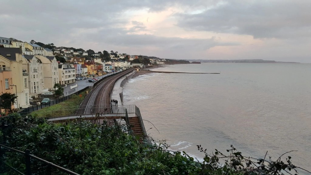 View of the railway line at Dawlish