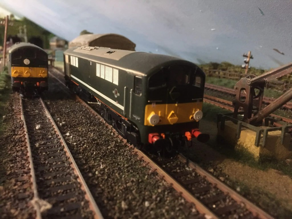 A pair of Co-Bo class 28 locomotives on my 00 gauge model railway