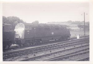 828 Magnificent -Hymek 7084 - Exeter St Davids depot - June 1971