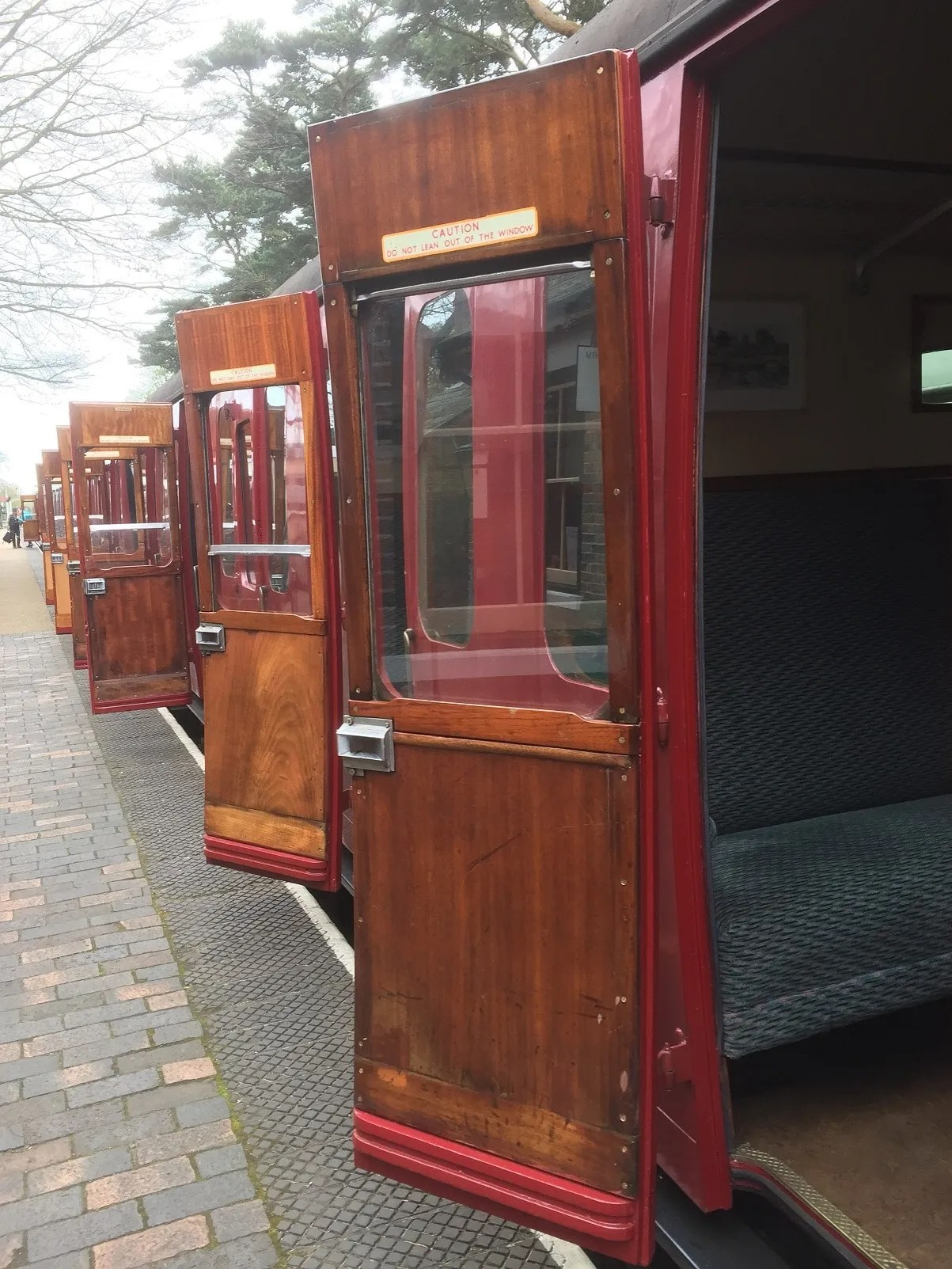 BR Mark 1 suburban coach set at Holt station on the North Norfolk Railway