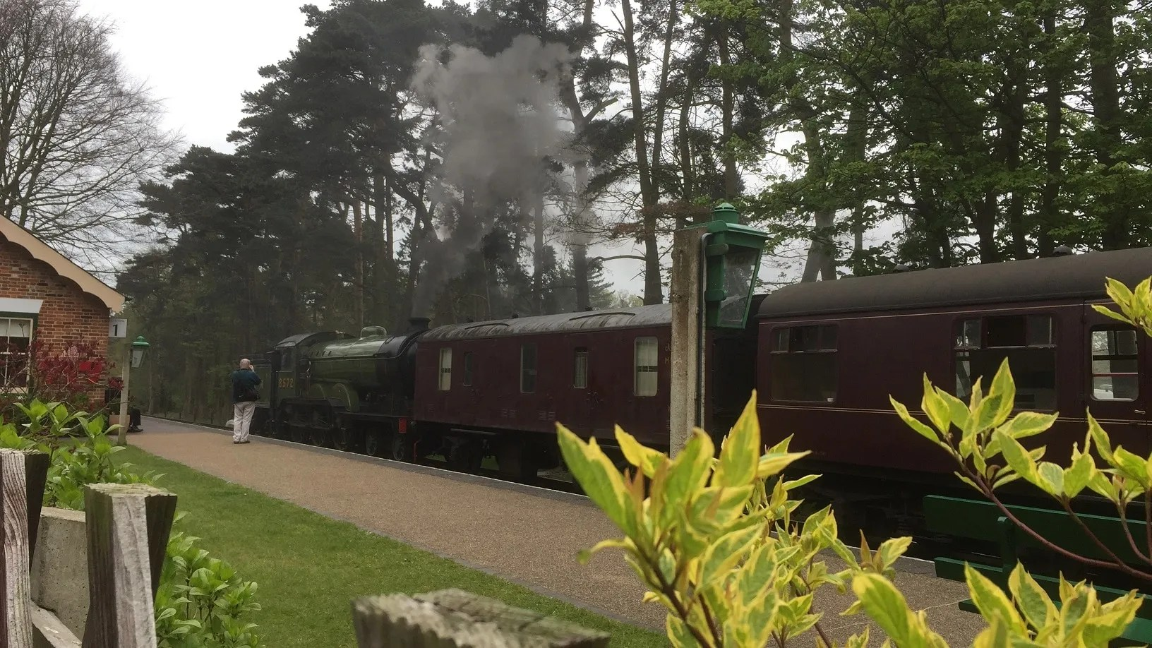 LNER B12 8572 with train which includes a CCT at the North Norfolk Railway