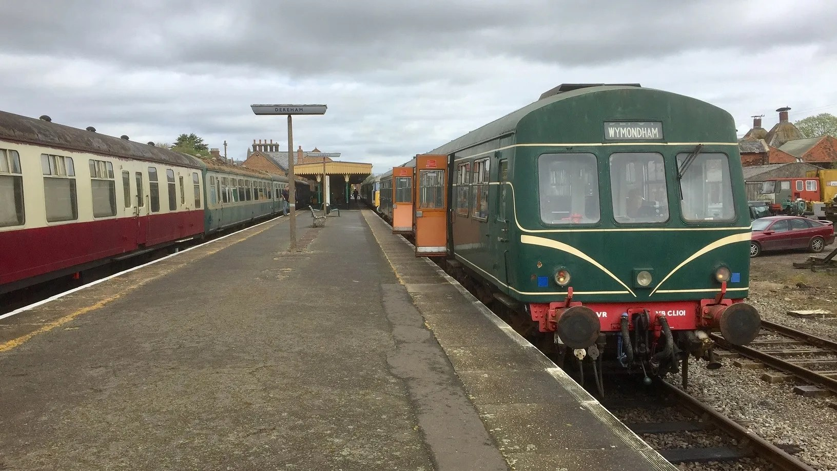 Metropolitan Cammell 2 car DMU at Dereham