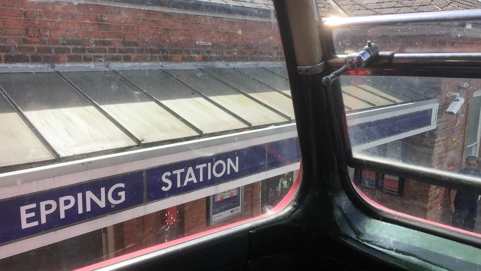 View of front of Epping Station from the top deck of RTL1076