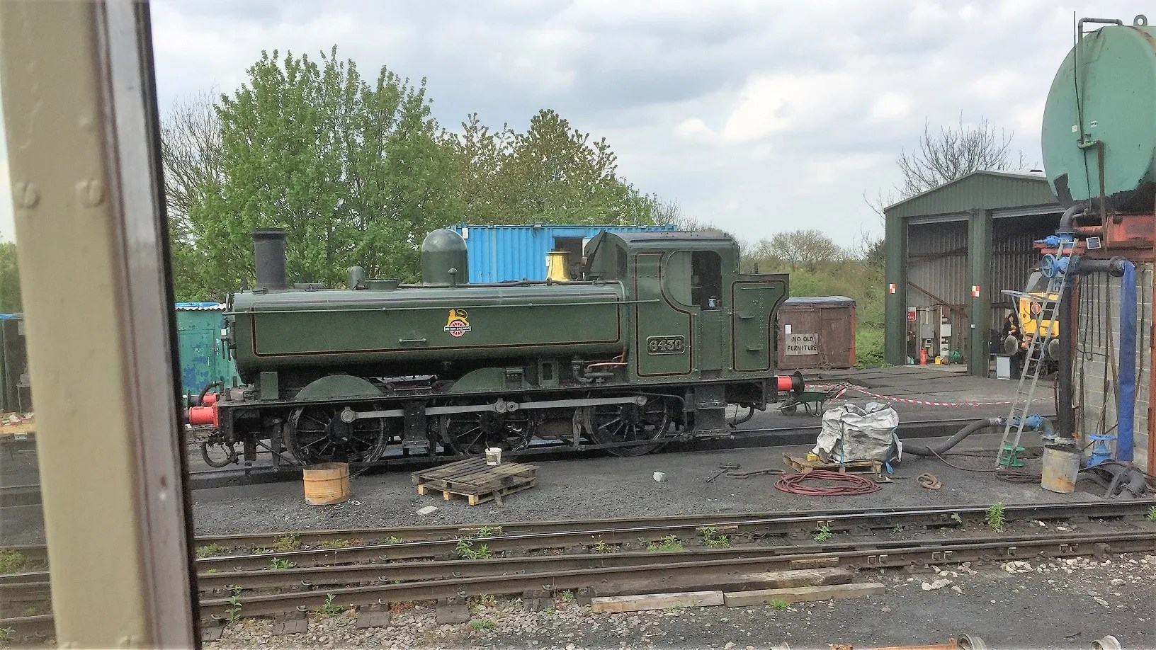 View of the yard at North Weald from cab of D6729