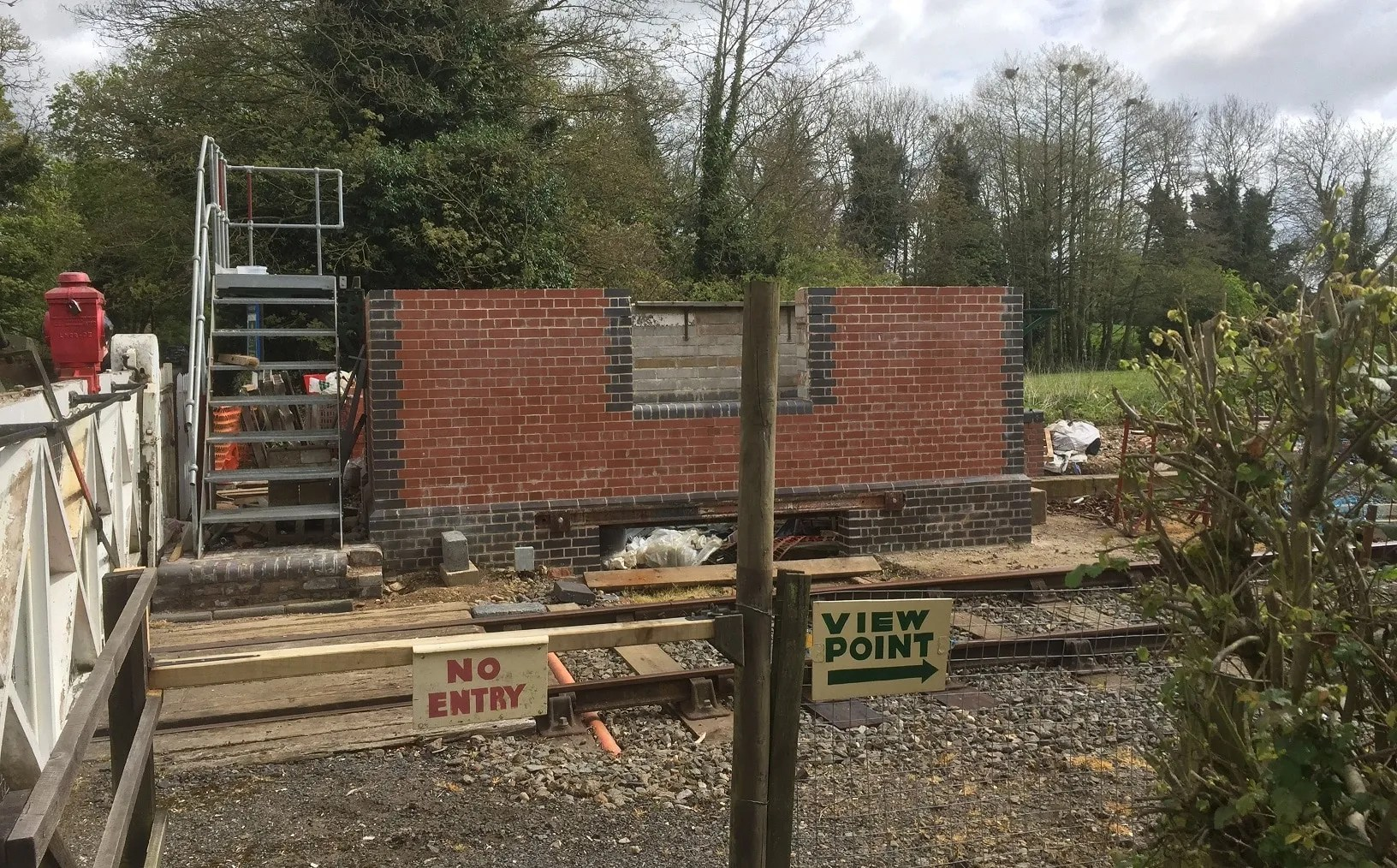 Wymondham Abbey signalbox under construction
