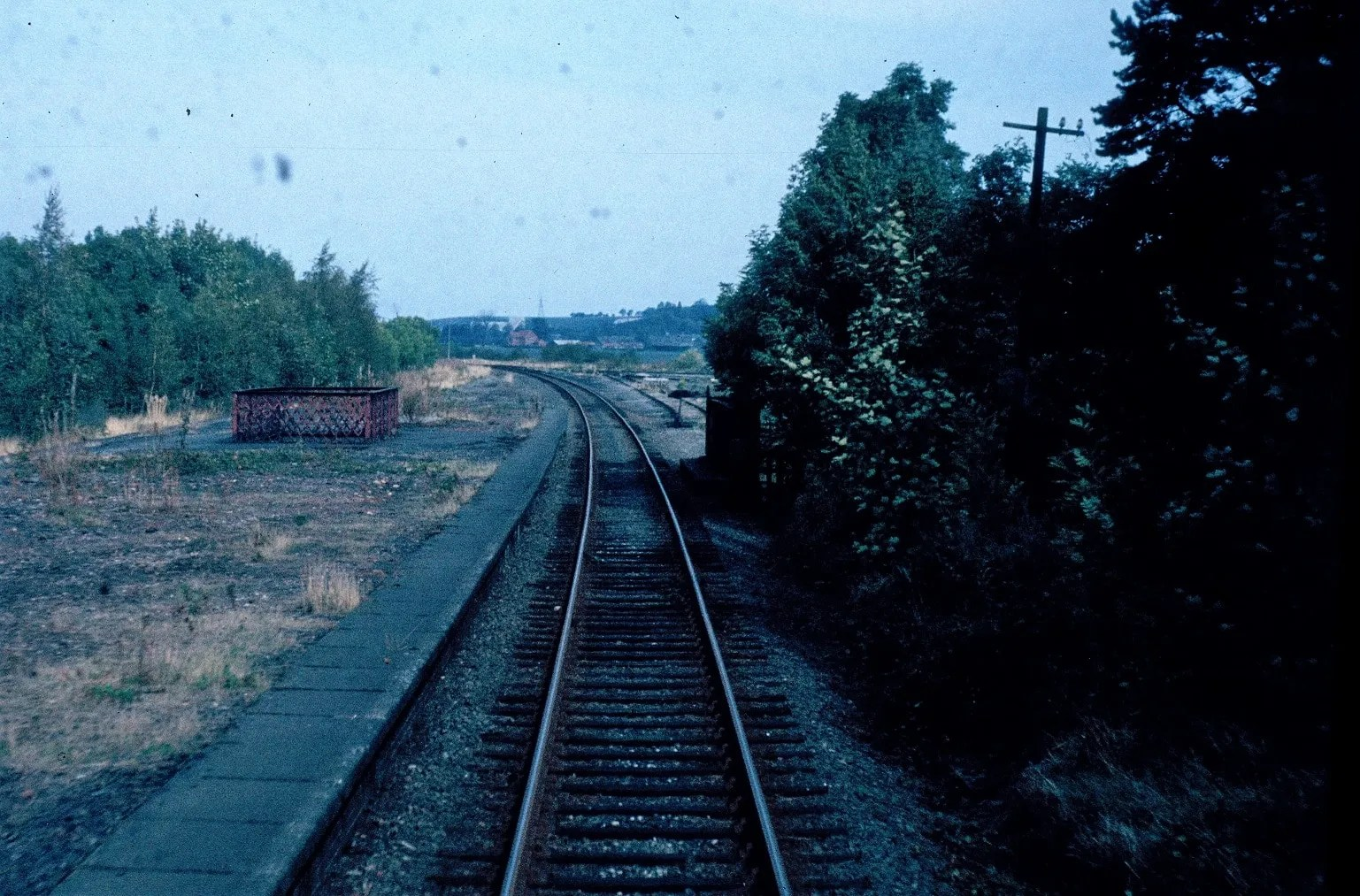 Cab view - Class 25- East Leake Station - railway photos